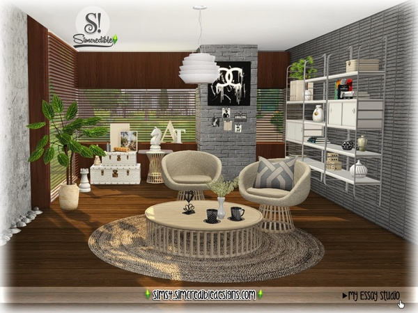 My Essay study corner by SIMcredible at TSR image 7118 Sims 4 Updates