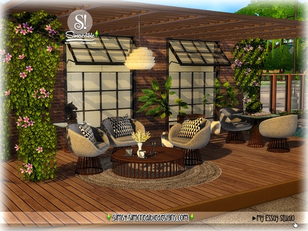 My Essay study corner by SIMcredible at TSR image 7215 Sims 4 Updates