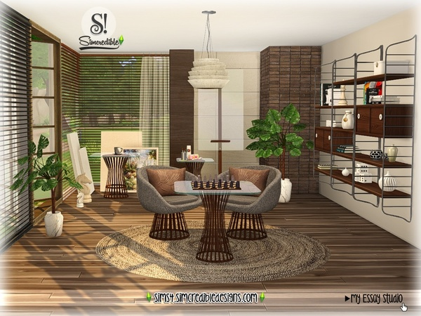My Essay study corner by SIMcredible at TSR image 7313 Sims 4 Updates