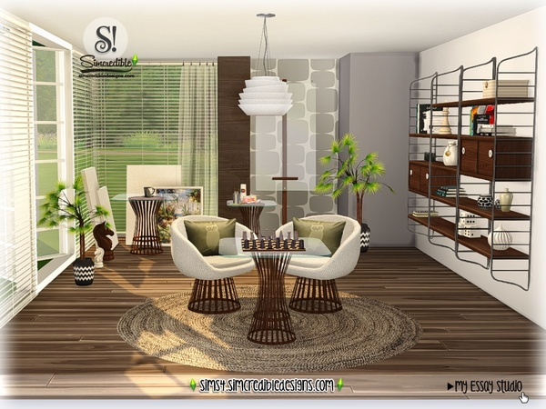 My Essay study corner by SIMcredible at TSR image 7413 Sims 4 Updates