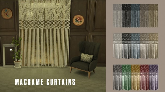 Sims 4 Macrame Curtain at Leo Sims