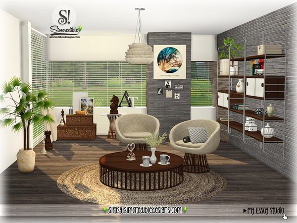 My Essay study corner by SIMcredible at TSR image 7513 Sims 4 Updates