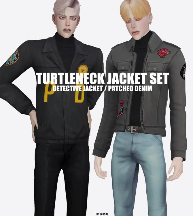 Sims 4 Detective Jacket + Patched Denim Jacket at EFFIE