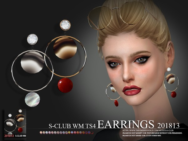 EARRINGS F 201813 by S Club WM at TSR image 756 Sims 4 Updates
