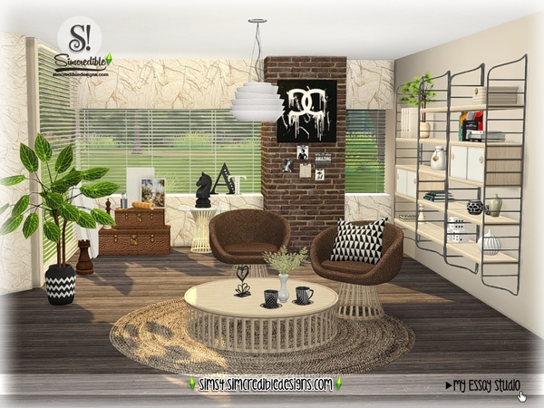 My Essay study corner by SIMcredible at TSR image 7612 Sims 4 Updates