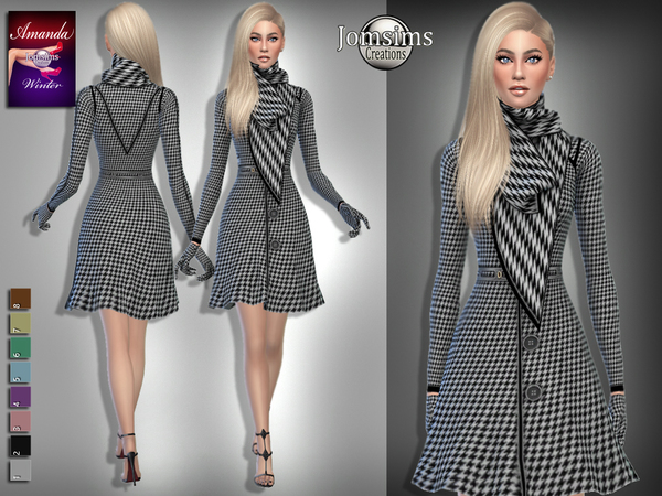 Sims 4 Amanda winter outfit by jomsims at TSR