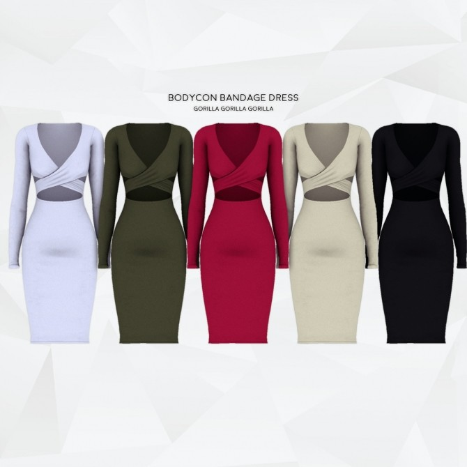 Sims 4 Bodycon Bandage Dress at Gorilla