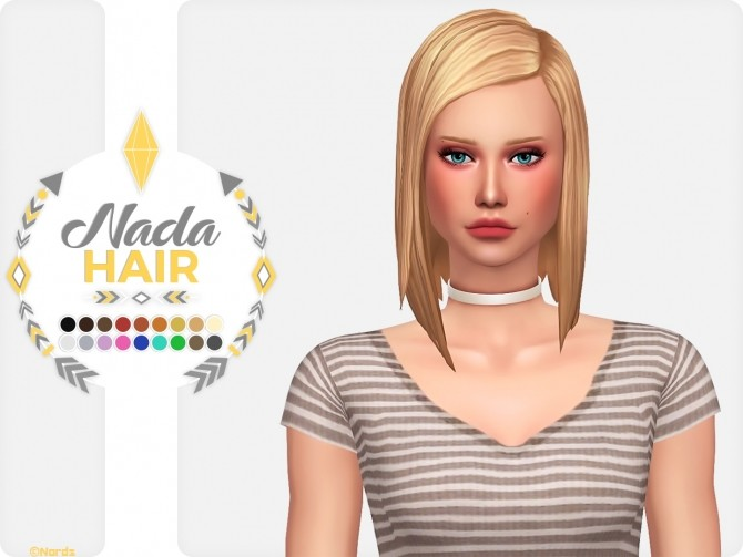 Sims 4 Nada Hair at Nords Sims