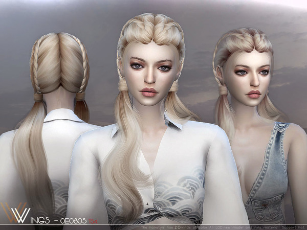 Hair OE0805 by wingssims at TSR image 773 Sims 4 Updates