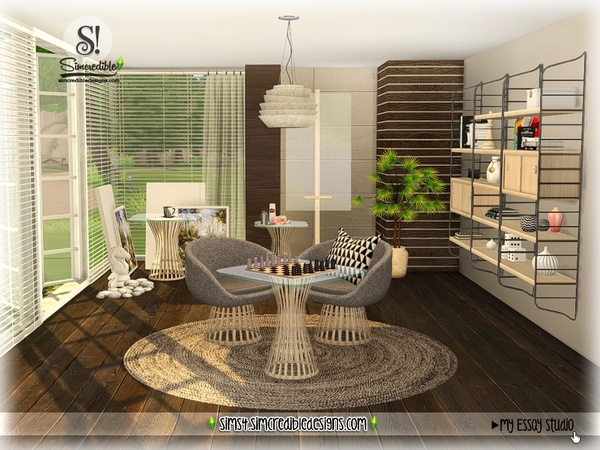 My Essay study corner by SIMcredible at TSR image 7813 Sims 4 Updates