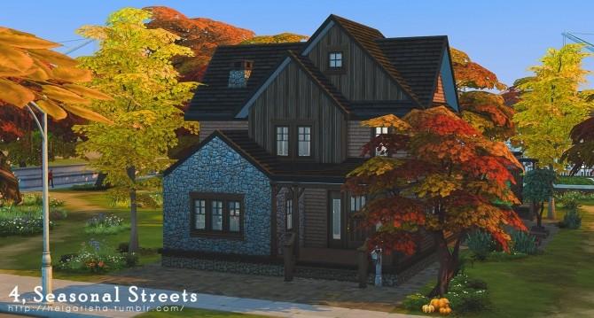 Sims 4 Seasonal Street home at Helga Tisha