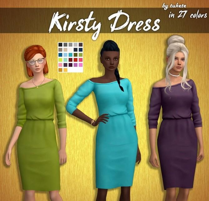 Sims 4 Kirsty Dress at Tukete