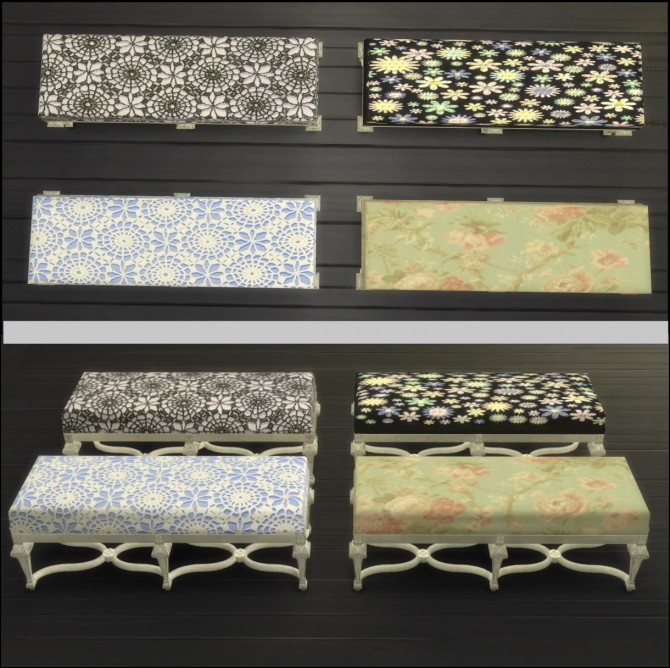 Sims 4 Carved and Gilded Beech Seat Recolors by gisellemoon at Mod The Sims