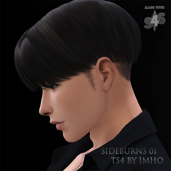 Sideburns 01 at IMHO Sims 4 image 8110 Sims 4 Updates