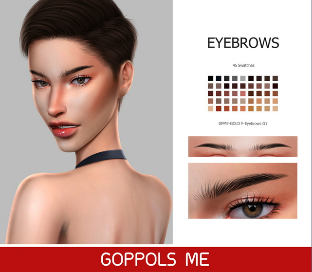 Sims 4 GPME GOLD F Eyebrows G1 at GOPPOLS Me