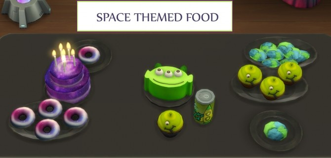 Space Themed Custom food by icemunmun at Mod The Sims image 8214 670x320 Sims 4 Updates