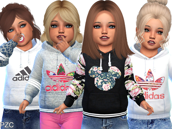 Sims 4 Hoodies For Toddler by Pinkzombiecupcakes at TSR