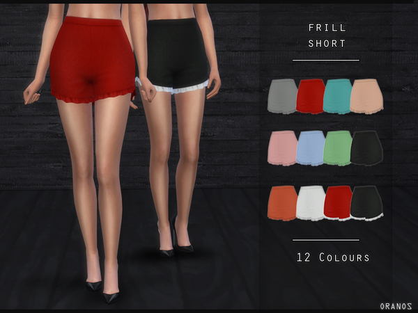 Frill Short by OranosTR at TSR image 830 Sims 4 Updates
