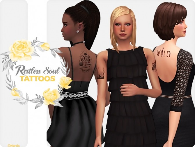 Restless Soul Tattoos Set at Nords Sims image 8310 670x503 Sims 4 Updates