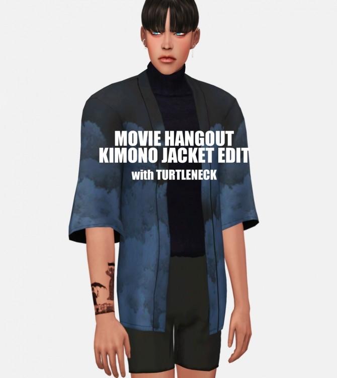 Sims 4 Movie Hangout Kimono Jacket EDIT at EFFIE