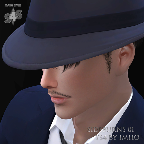 Sideburns 01 at IMHO Sims 4 image 835 Sims 4 Updates