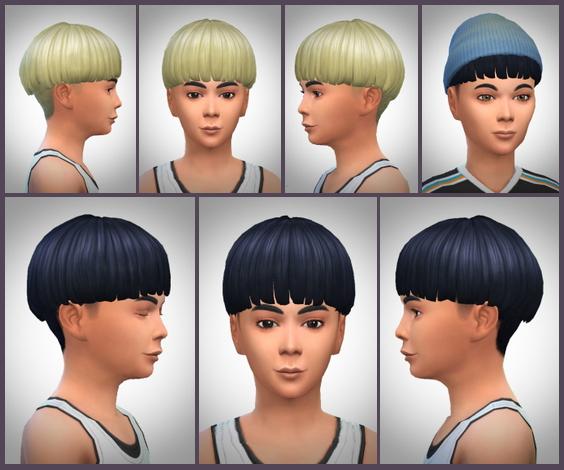 Sims 4 Bowl cut Hair for Boys at Birksches Sims Blog