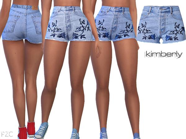 Sims 4 Denim Jeans Shorts Kimberly by Pinkzombiecupcakes at TSR