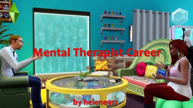 Sims 4 Mental Therapist Career by helene912 at Mod The Sims