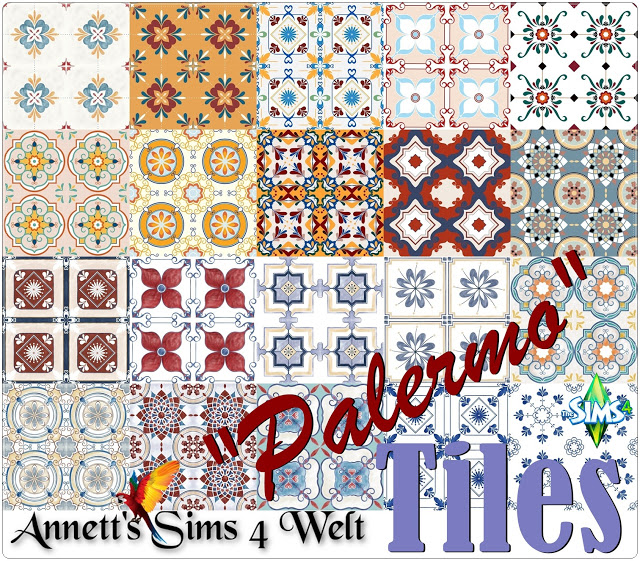 Palermo tiles at Annett's Sims 4 Welt image 854 Sims 4 Updates