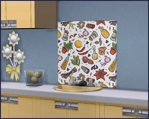 Sims 4 Kitchen back wall Gourmet at CappusSims4You