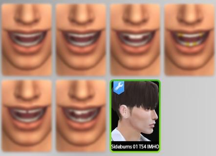 Sims 4 Sideburns 01 at IMHO Sims 4
