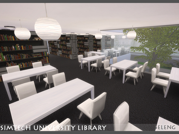 Sim tech Uni Library by Seleng at TSR image 880 Sims 4 Updates