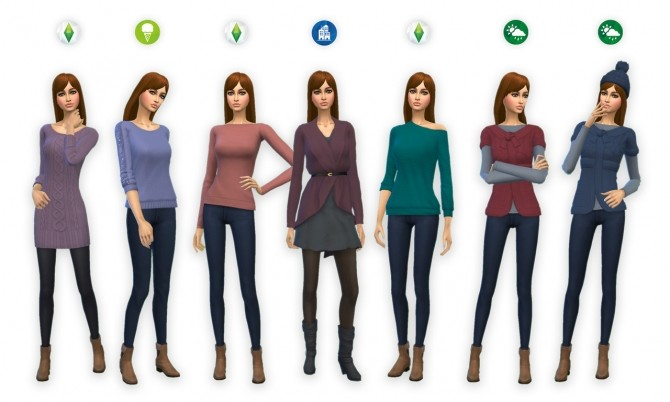 Sims 4 Sweater Weather Collection at SimPlistic