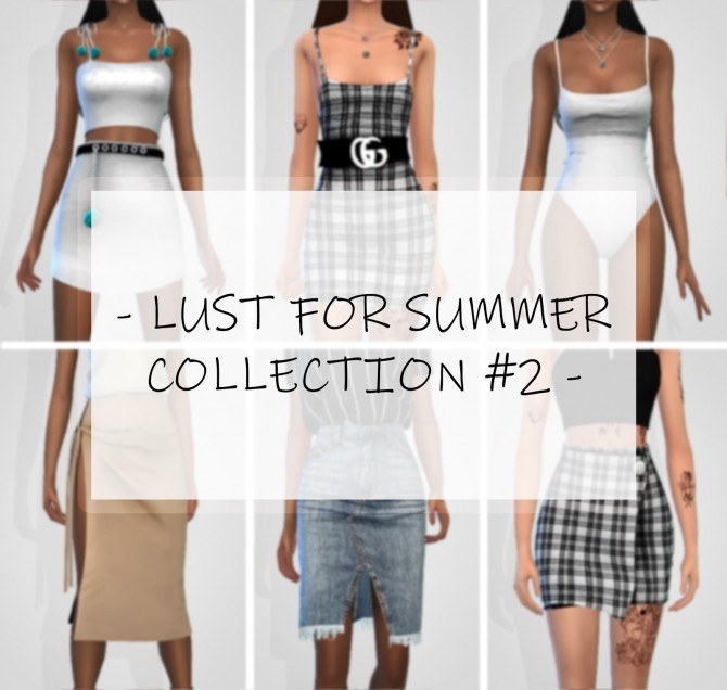 Sims 4 LUST FOR SUMMER COLLECTION #2 at Grafity cc