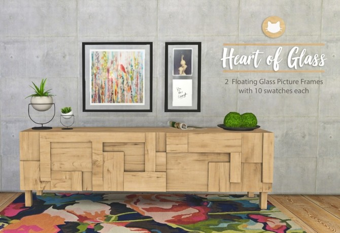 Heart of Glass Floating Picture Frames at Kitkat's Simporium image 895 670x459 Sims 4 Updates