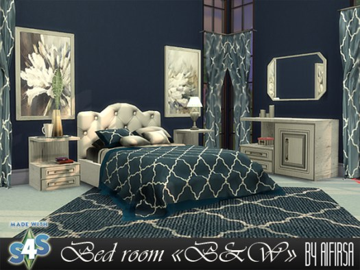 B & W bedroom furniture at Aifirsa image 903 Sims 4 Updates