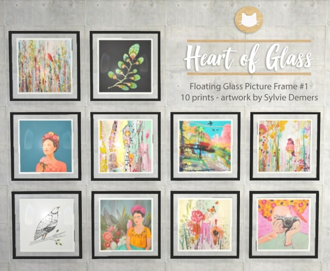 Sims 4 Heart of Glass Floating Picture Frames at Kitkat's Simporium