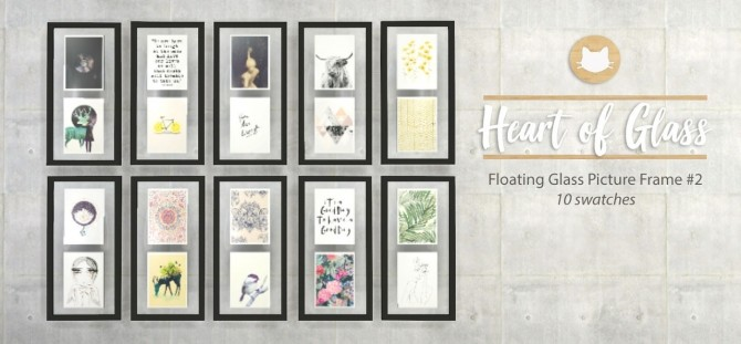 Heart Of Glass Floating Picture Frames At Kitkats Simporium Sims