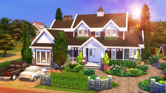 Applewood Farmhouse At Aveline Sims 187 Sims 4 Updates