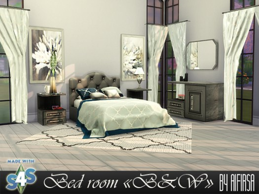 B & W bedroom furniture at Aifirsa image 915 Sims 4 Updates