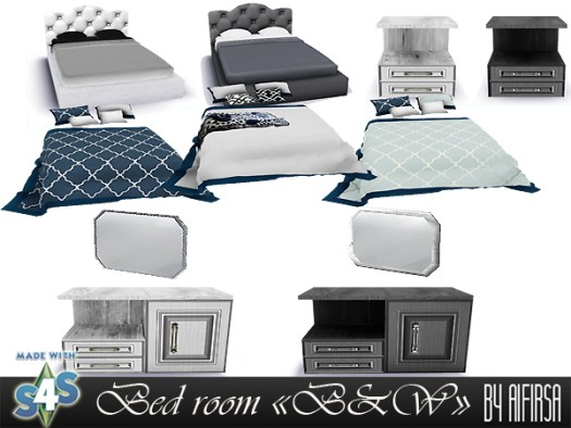 B & W bedroom furniture at Aifirsa image 923 Sims 4 Updates