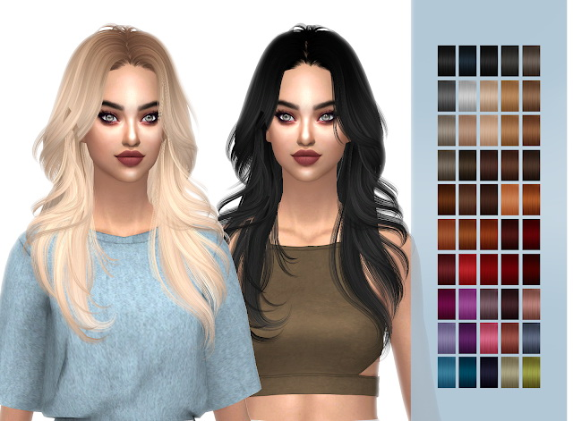 HallowSims Melt Away hair retexture at FROST SIMS 4 image 928 Sims 4 Updates