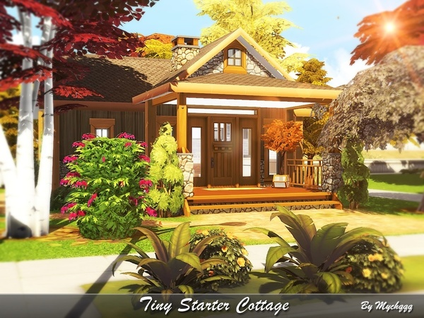 Sims 4 Tiny Starter Cottage by MychQQQ at TSR