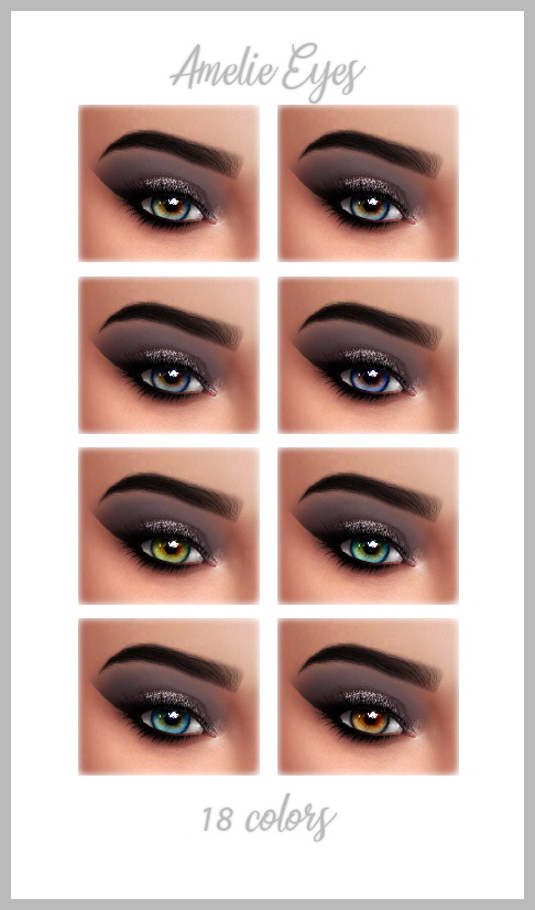 Sims 4 AMELIE EYES at FROST SIMS 4