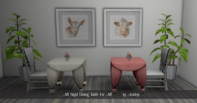 All Night Dining Table by anidup at Blooming Rosy image 9612 670x352 Sims 4 Updates