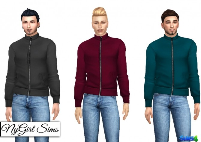 High Neck Zip Up Jacket at NyGirl Sims image 962 670x474 Sims 4 Updates