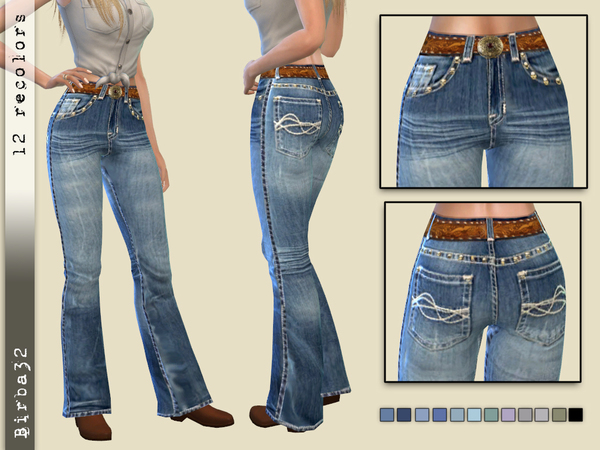 Cowgirl jeans by Birba32 at TSR image 970 Sims 4 Updates