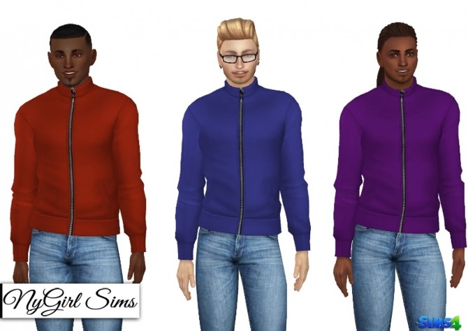 High Neck Zip Up Jacket at NyGirl Sims image 972 670x474 Sims 4 Updates