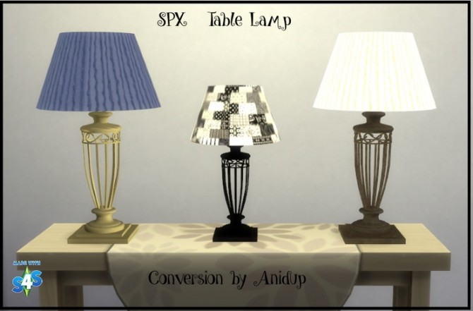 SPX Table Lamp by anidup at Blooming Rosy image 981 670x441 Sims 4 Updates