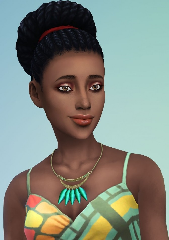 Sims 4 Scarabée necklace by Delise at Sims Artists
